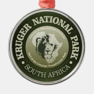 Parc national de Kruger Ornement Rond Argenté
