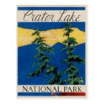 Parc national de lac crater carte postale
