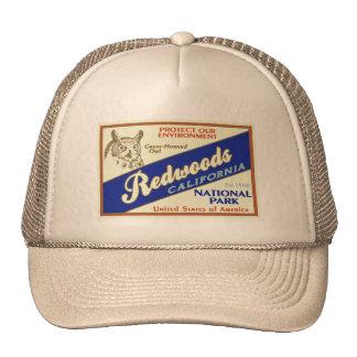 Parc national de séquoias (hibou) casquettes de camionneur