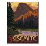 Parc national de Yosemite - demi d'affiche de voya Cartes Postales