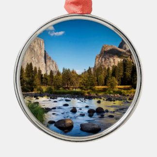Parc national de Yosemite, la Californie Ornement Rond Argenté