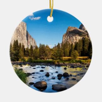 Parc national de Yosemite, la Californie Ornement Rond En Céramique