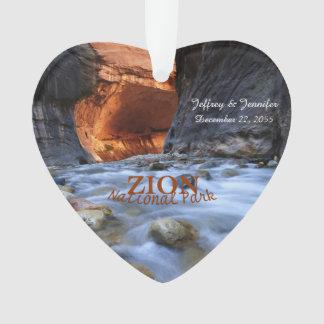 Parc national de Zion, les étroits, ornement fait