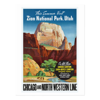 Parc national de Zion, voyage de l'Utah Amérique Carte Postale