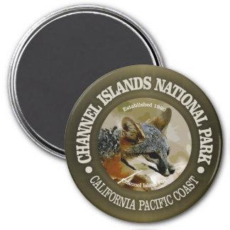 Parc national des Îles Anglo-Normandes (renard) Magnet Rond 7,50 Cm