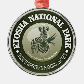 Parc national d'Etosha Ornement Rond Argenté