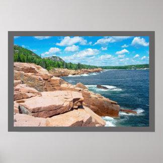 Parc national Maine d'été d'Acadia rocheux de Affiche