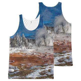 Parc national Wyoming de Yellowstone en hiver Bannières