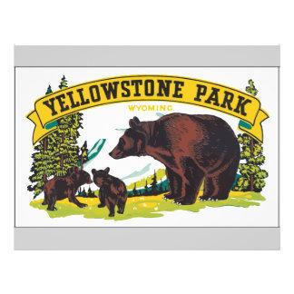 Parc Wyoming, cru de Yellowstone Prospectus 21,6 Cm X 24,94 Cm