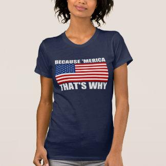 PARCE QUE 'MERICA QUI EST POURQUOI drapeau des Éta T-shirt