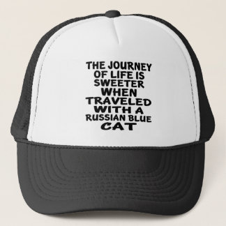 Parcouru avec le chat bleu russe casquette