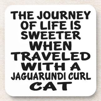 Parcouru avec le chat de boucle de Jaguarundi Dessous-de-verre