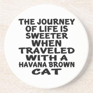 Parcouru avec le chat de La Havane Brown Dessous De Verre