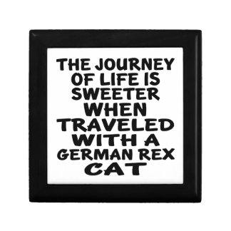 Parcouru avec le chat de Rex d'Allemand Petite Boîte À Bijoux Carrée