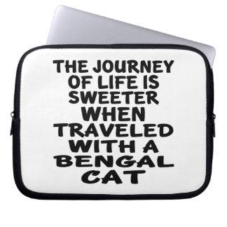 Parcouru avec le chat du Bengale Trousse Ordinateur