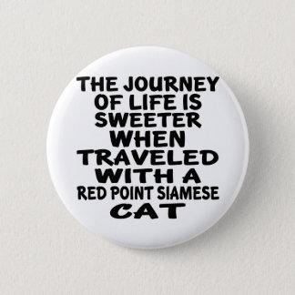 Parcouru avec le chat siamois de point rouge badge