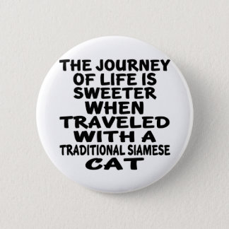 Parcouru avec le chat siamois traditionnel pin's