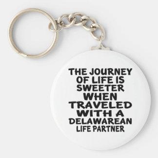 Parcouru avec un associé de la vie de Delawarean Porte-clé Rond