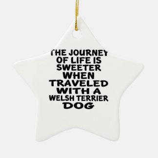 Parcouru avec un associé de la vie de gallois ornement étoile en céramique