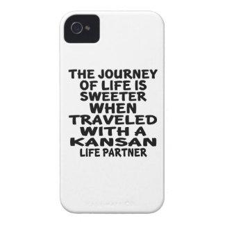 Parcouru avec un associé de la vie de Kansan Coque iPhone 4 Case-Mate