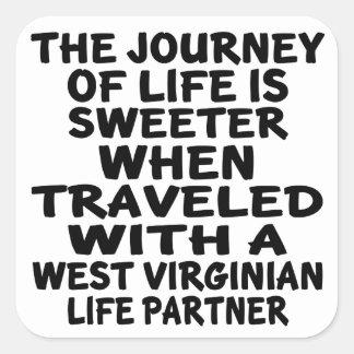 Parcouru avec un associé de la vie de Virginian Sticker Carré