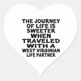 Parcouru avec un associé de la vie de Virginian Sticker Cœur