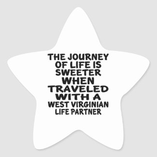Parcouru avec un associé de la vie de Virginian Sticker Étoile