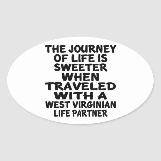 Parcouru avec un associé de la vie de Virginian Sticker Ovale