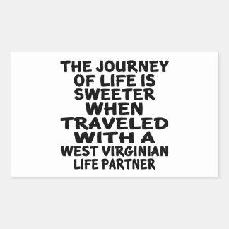 Parcouru avec un associé de la vie de Virginian Sticker Rectangulaire