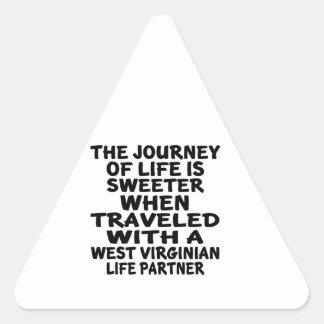Parcouru avec un associé de la vie de Virginian Sticker Triangulaire