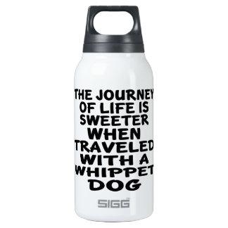 Parcouru avec un associé de la vie de whippet bouteilles isotherme