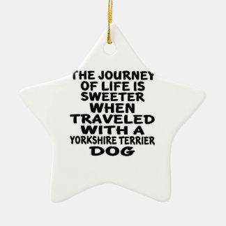 Parcouru avec un associé de la vie de Yorkshire Ornement Étoile En Céramique