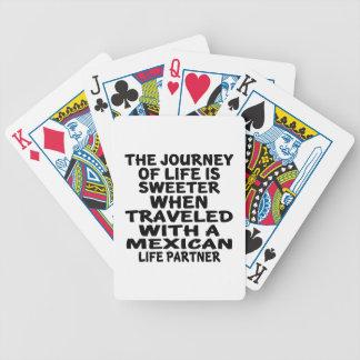 Parcouru avec un associé mexicain de la vie cartes à jouer