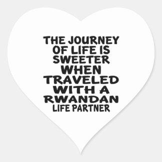 Parcouru avec un associé rwandais de la vie sticker cœur