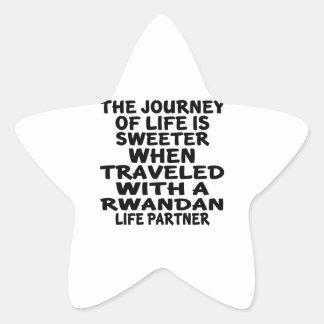 Parcouru avec un associé rwandais de la vie sticker étoile