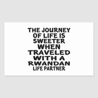 Parcouru avec un associé rwandais de la vie sticker rectangulaire