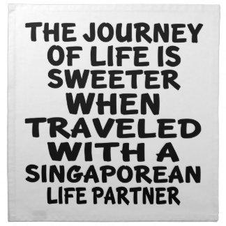 Parcouru avec un associé singapourien de la vie serviette