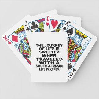 Parcouru avec un associé sud-africain de la vie cartes à jouer