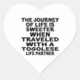Parcouru avec un associé togolais de la vie sticker cœur