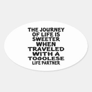 Parcouru avec un associé togolais de la vie sticker ovale