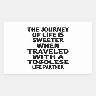 Parcouru avec un associé togolais de la vie sticker rectangulaire