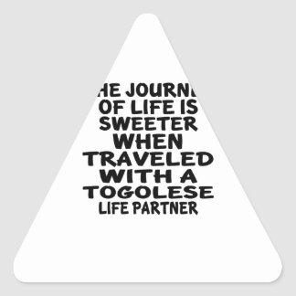 Parcouru avec un associé togolais de la vie sticker triangulaire