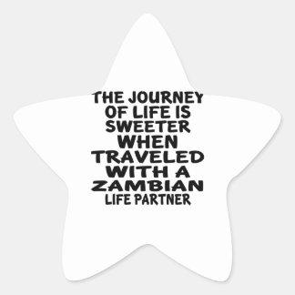 Parcouru avec un associé zambien de la vie sticker étoile