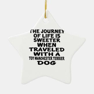 Parcouru avec une vie Partne de Manchester Terrier Ornement Étoile En Céramique