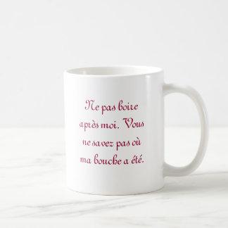 Pardonnez mon français mug blanc
