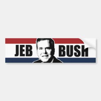Pare-chocs blanc de Jeb Bush et bleu rouge - .png Autocollant De Voiture