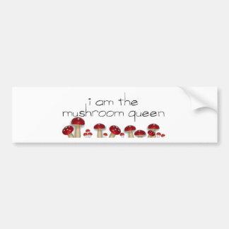 Pare-chocs de la Reine de champignon Autocollant Pour Voiture