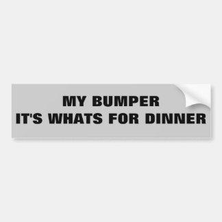 Pare-chocs il est ce qui est pour le dîner autocollant de voiture