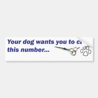 Pare-chocs - votre chien veut que vous appeliez… autocollant pour voiture