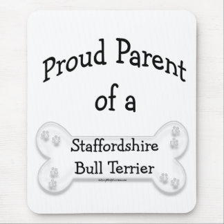 Parent fier de bull-terrier du Staffordshire Tapis De Souris